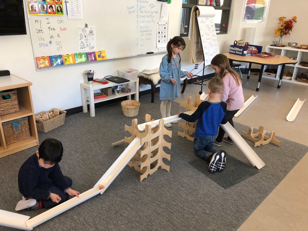 Experimenting with forces using ramps